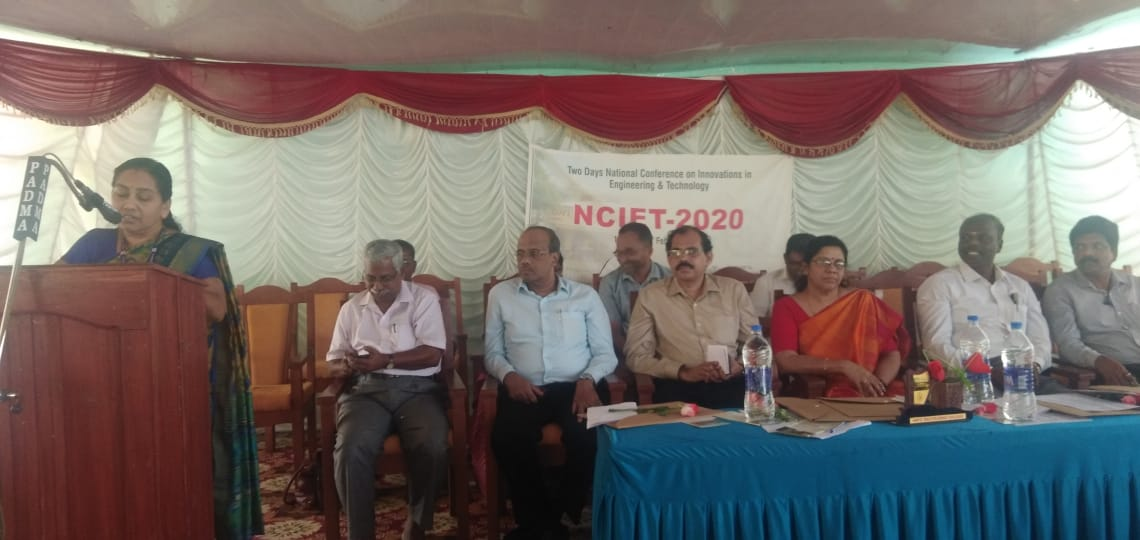 NCIET 2020 was Conducted on Feb 11 and 12th 2020